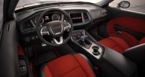 The all-new SRT Challenger interior is both sporty and comfortable