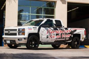 Horsepower Broadcasting's Silverado with Magnuson Supercharger installed