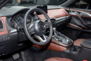The interior of the all-new CX-9 is sporty and luxurious